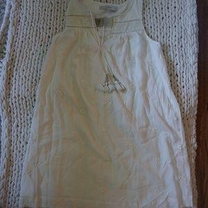 LOFT cream shift dress NWT